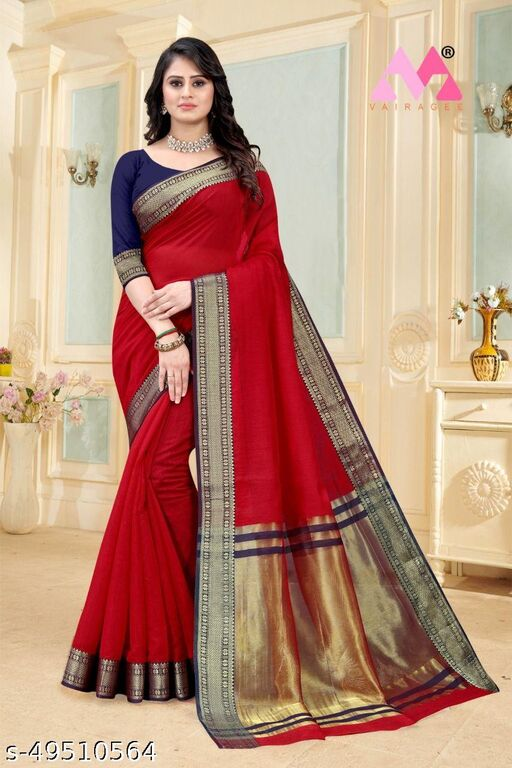 A Shasmer Soft Cottan Silk Havey Saree