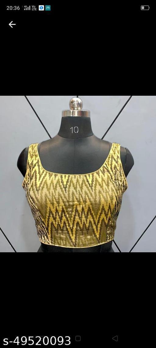 Designer Ikat Sleeveless Blouse
