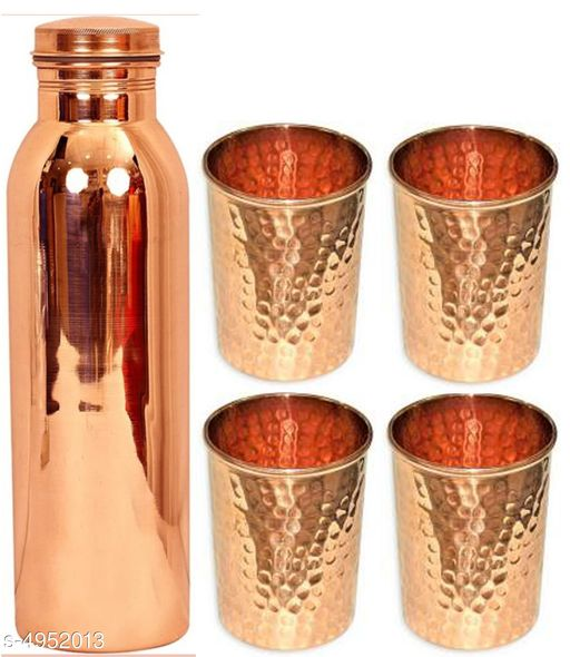 Classic Copper Water Bottles & Glass