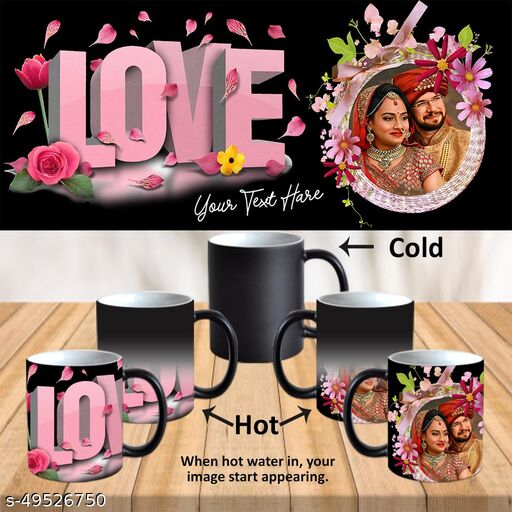 Personalized Cup with Photo and Text For Birthday, Valentines Day , Wedding Anniversary, Mother's Day, Father's Day, Rakhi and All Occasions Gifts PSM038az