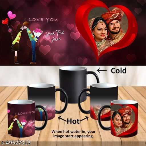 Personalized Cup with Photo and Text For Birthday, Valentines Day , Wedding Anniversary, Mother's Day, Father's Day, Rakhi and All Occasions Gifts PSM044az