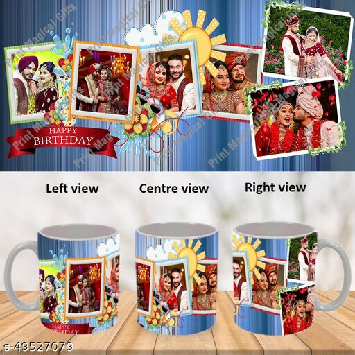 Personalized Cup with Photo and Text For Birthday, Valentines Day , Wedding Anniversary, Mother's Day, Father's Day, Rakhi and All Occasions Gifts WWWM164az