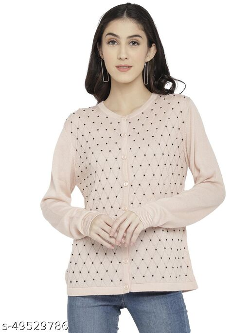 CHKOKKO Women Stylish Cardigan Sweater for Winter
