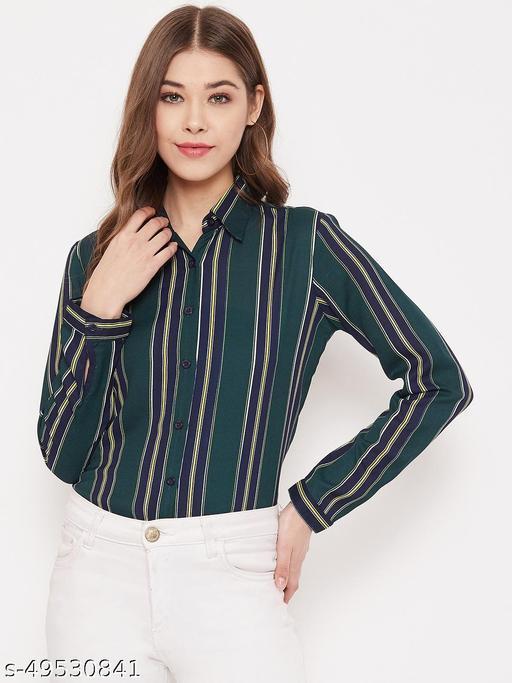 Stripes printed regular shirt