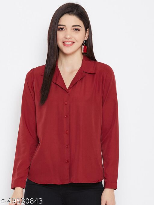 Retro style solid shirt