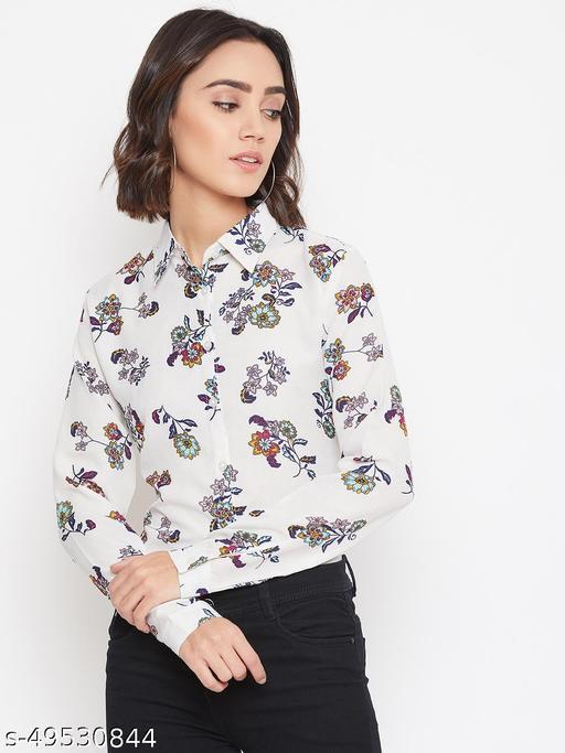 Floral printed regular shirt