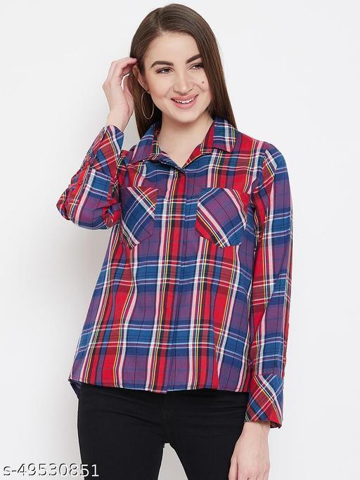 Plaid checks shirt with stylized back