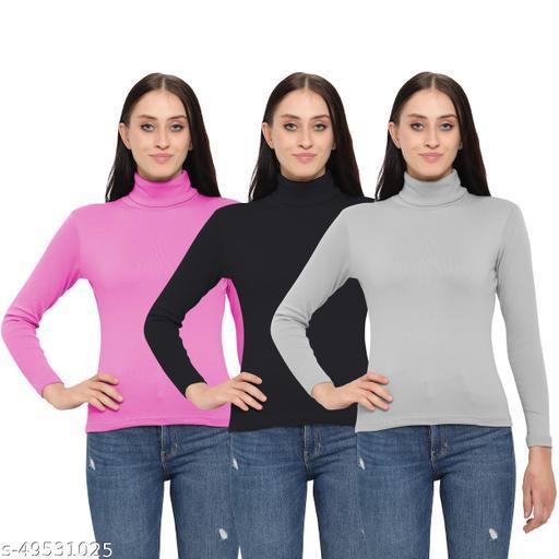 MYO Women/Girls Turtle Neck/Highneck Sweater