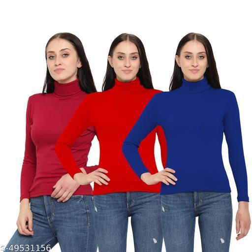 MYO Women/Girls Turtle Neck/Highneck Sweater pack of 3