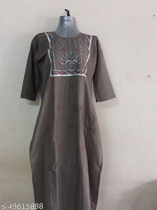 Very attractive stylish and elegant kurti (Cement Green)