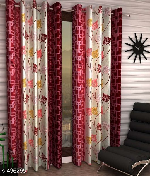 Curtains & Sheers Printed Polyester Door Curtain Vol 6  *Material* Polyester   *Dimension* ( L X W ) - Curtains - 7 Ft X 4 FT   *Description* It Has 2 Pieces Of Door Curtains   *Work* Printed  *Sizes Available* Free Size *   Catalog Rating: ★4 (1373)  Catalog Name: Printed Polyester Door Curtains Vol 6 CatalogID_54580 C54-SC1116 Code: 123-496295-