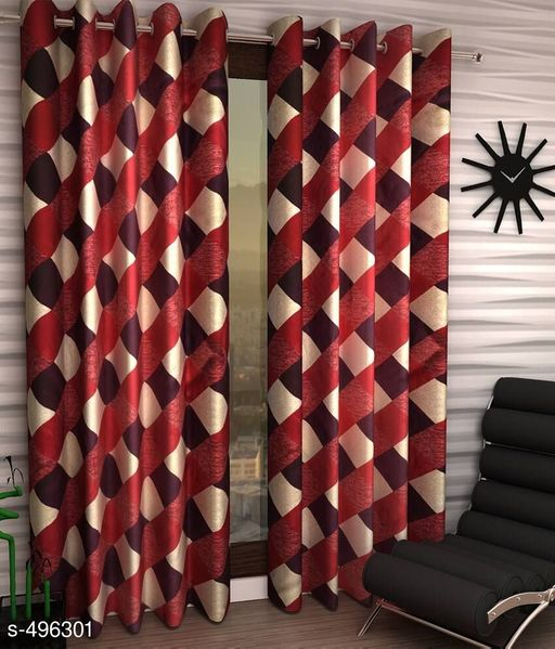 Curtains & Sheers Printed Polyester Door Curtain Vol 6  *Material* Polyester   *Dimension* ( L X W ) - Curtains - 7 Ft X 4 FT   *Description* It Has 2 Pieces Of Door Curtains   *Work* Printed  *Sizes Available* Free Size *   Catalog Rating: ★4 (1373)  Catalog Name: Printed Polyester Door Curtains Vol 6 CatalogID_54580 C54-SC1116 Code: 123-496301-