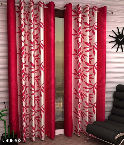 Curtains & Sheers Printed Polyester Door Curtain Vol 6  *Material* Polyester   *Dimension* ( L X W ) - Curtains - 7 Ft X 4 FT   *Description* It Has 2 Pieces Of Door Curtains   *Work* Printed  *Sizes Available* Free Size *   Catalog Rating: ★4 (1373)  Catalog Name: Printed Polyester Door Curtains Vol 6 CatalogID_54580 C54-SC1116 Code: 123-496302-