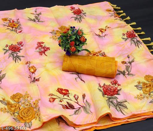 RekhaManiyar Pretty Pashmina Silk Floral Jari Satin Chex Saree With Contrast Piping and Tassels