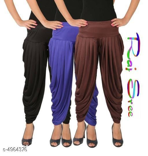Cotton Viscose Attractive Women's Patiala Pants Combo