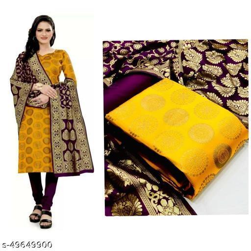 jacquard with banarasi dupatta dress material