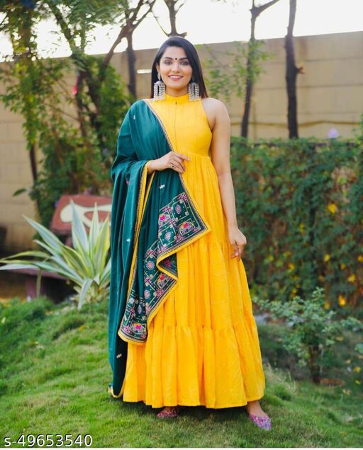 Trendy Fashionable gown