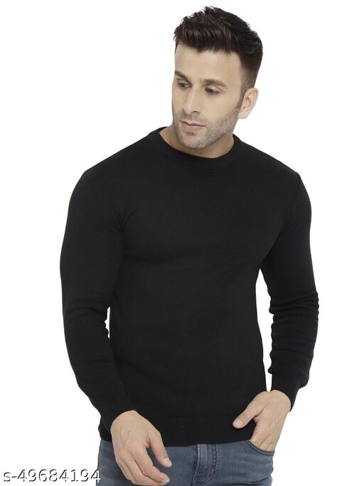 CHKOKKO Men Winter Woolen Sweater