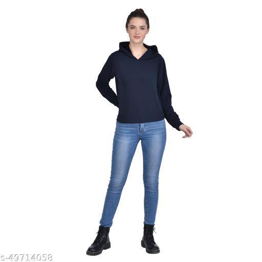 Leeway International Women's Casual Blue Hoodie/Sweatshirt