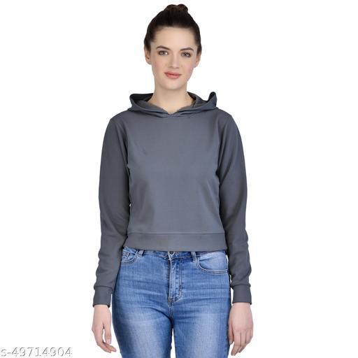 Leeway International Women's Casual Dark Grey Hoodie/Sweatshirt