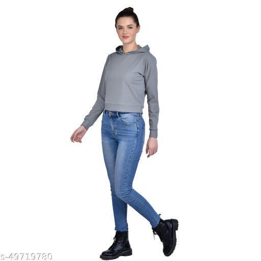 Leeway International Women's Casual Light Grey Hoodie/Sweatshirt
