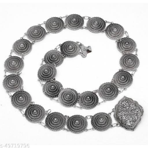 Premium quality Antique german silver look alike oxidised carved waist belt