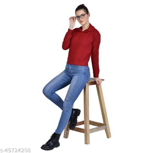 Leeway International Women's Casual Maroon Hoodie/Sweatshirt