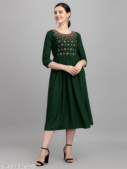 Kurti Dress For Women With Embroidery Mirror Work