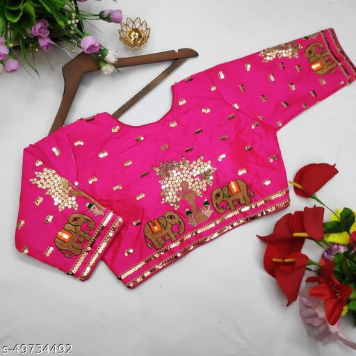 Beautiful Heavy Embroidery Work Blouse