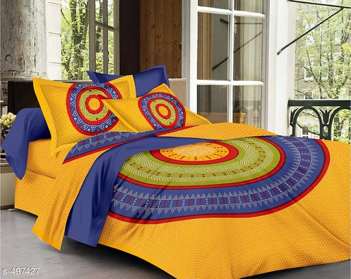 Imperial Jaipuri Mandala Printed Double Bedsheet