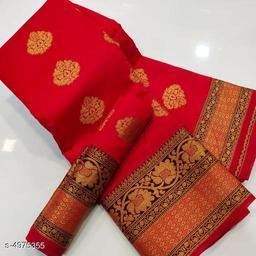 Stylish Women's Litchi Silk Saree
