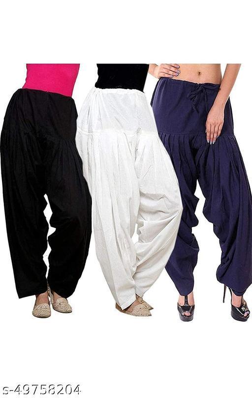 Ssretail Women's Cotton camric cotton Patiala Salwar patiala) - Pack of 4