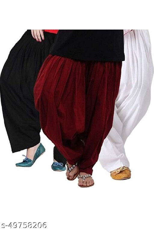 Ssretail Women's Cotton camric cotton Patiala Salwar patiala) - Pack of 12