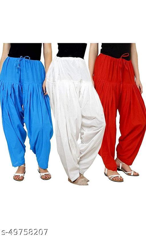 Ssretail Women's Cotton camric cotton Patiala Salwar patiala) - Pack of 9