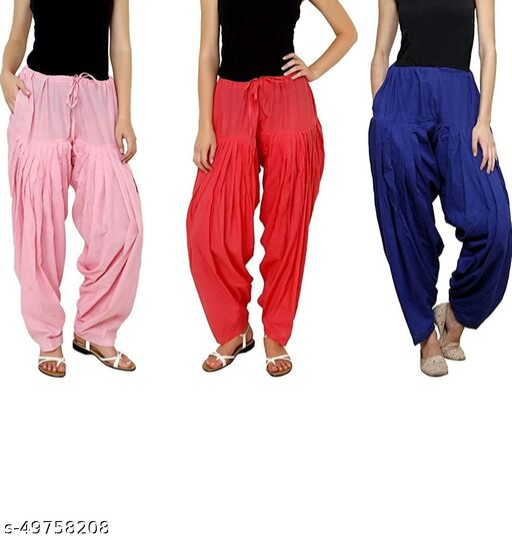 Ssretail Women's Cotton camric cotton Patiala Salwar patiala) - Pack of 7
