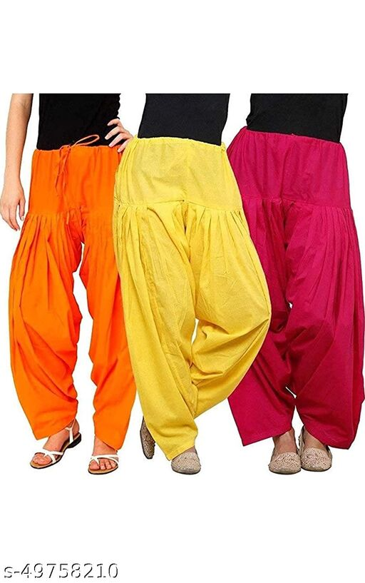 Ssretail Women's Cotton camric cotton Patiala Salwar patiala) - Pack of 5