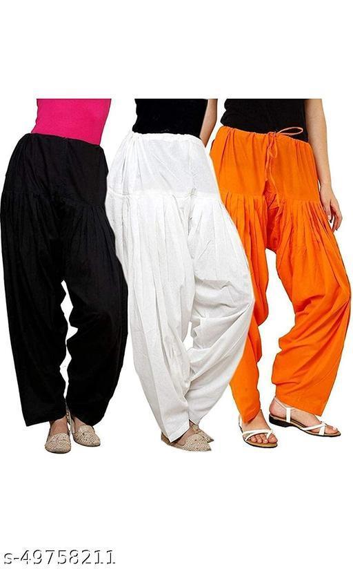 Ssretail Women's Cotton camric cotton Patiala Salwar patiala) - Pack of 8
