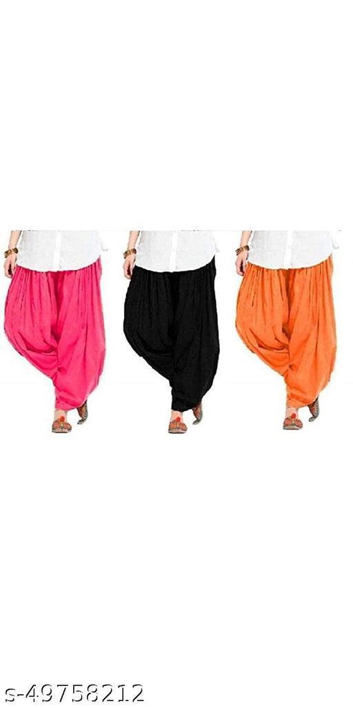 Ssretail Women's Cotton camric cotton Patiala Salwar patiala) - Pack of 6