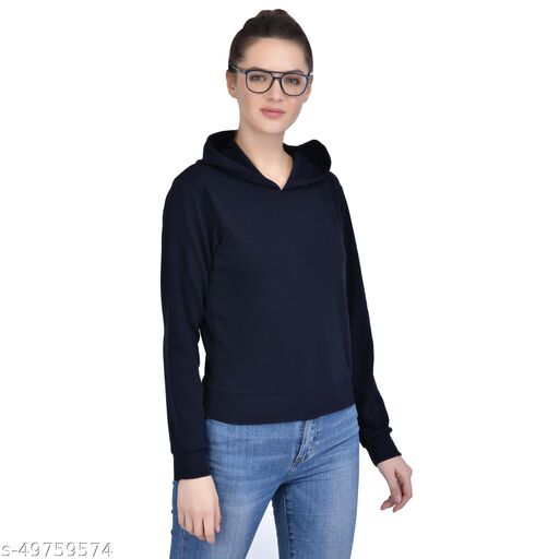 Leeway International Women's Casual Black Hoodie/Sweatshirt