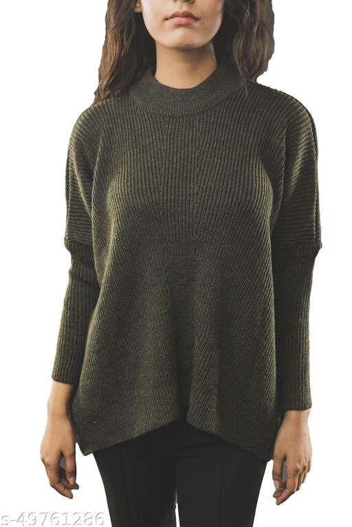 Fall For Her Cable Knit Striped Woolen Sweater
