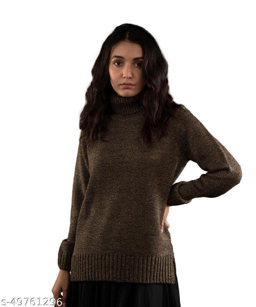 Fall For Her Woolen High Neck Women Sweater