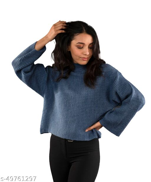 Fall For Her Woolen Cropped Boxy Sweater
