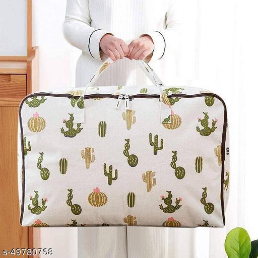 Dhara Enterprises  Storage Bag 210D Oxford | Custom Foldable Blankets,Clothes Closet Organizer (70*50*30 cm) (Multi Print)