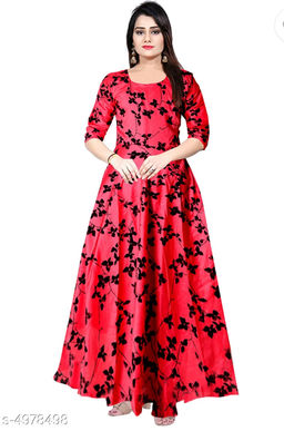 Women's Printed Pink Rayon Dress