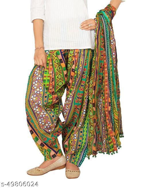 Rangmayee Women's Printed Cotton Patiala with Dupatta Set