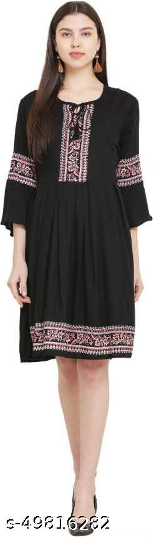 LADYANA BLACK ASERUL KURTI DRESS