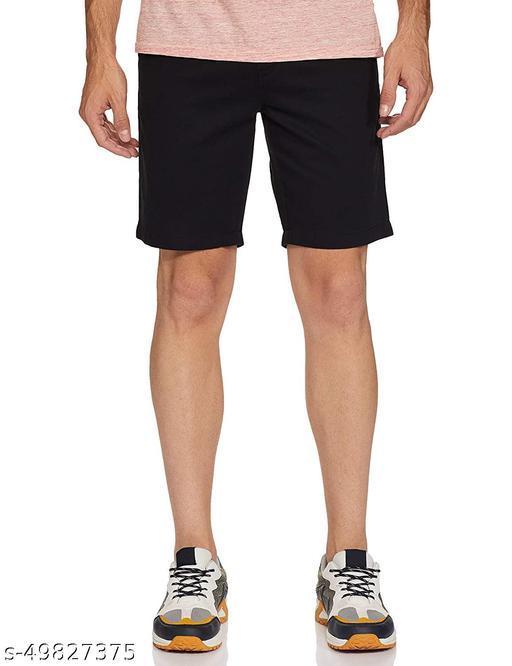 Men's trendy Casual Solid Cotton Lycra Mix Shorts