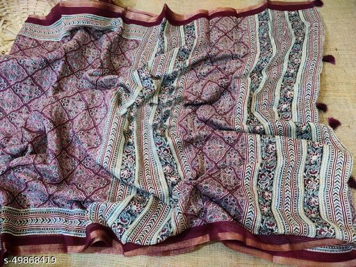 Fancy Festival and wedding wear fully printed saree
