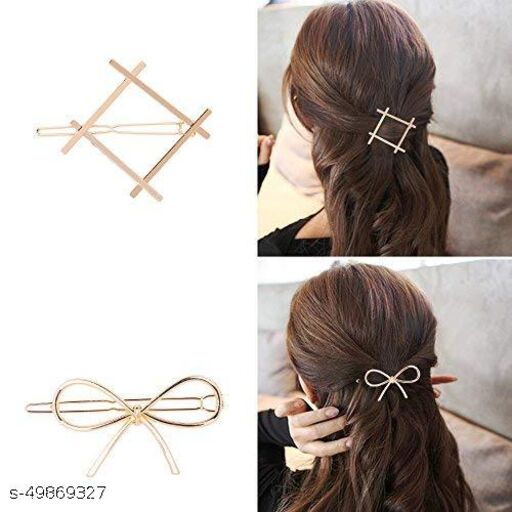 Unified collection Hair Accessories Metal Tic tac  hair clip Pins Clips combo 24 Pair ( 48 Pcs ) For Women / Girls / Unisex -Multicolour Hairclips_15