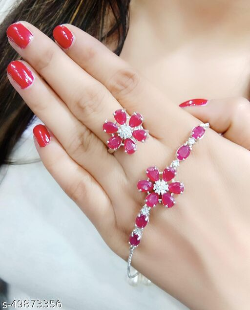 Bracelets and rings for girls and women